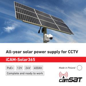 Całoroczne zasilanie solarne do CCTV- iCAM-Solar365