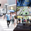 Machine Learning analytics identify person technology in smart city , Artificial intelligence ,Big data , iot concept. Engineer monitoring cctv , security camera and face recognition people  traffic.