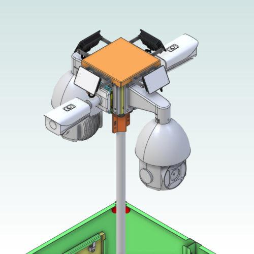 CCTV camera tower for quick deployment - CAMSAT Poland iCAM-TOWER (5)