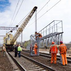 Railway construction in Kiev, Ukraine