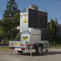 iCAM-Tower na przyczepie - gotowa do transportu